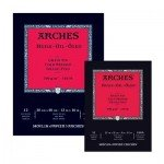 Bloc de 12 hojas de papel para óleo Arches de grano fino de 300 gr (23x31 cm)