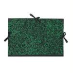 Carpeta dibujo 26x33 cm., Verde con cintas