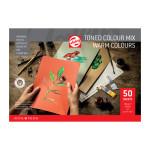 Bloc multitécnica de 50 hojas de papel Colores Calidos de 180 gr (A4)