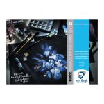 Bloc Postales Acuarela papel negro Van Gogh 360 gr, 10,5x14,8, 25 hojas, grano fino