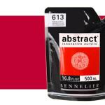 Acrilico Sennelier Abstract Rojo Cadmio Oscuro Tono 606, 500 ml.