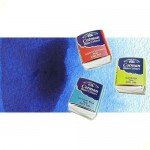Acuarela Cotman Winsor & Newton 1/2 godet color azul intenso