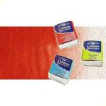Acuarela Cotman Winsor & Newton 1/2 godet color rojo de cadmio tono