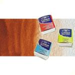 Acuarela Cotman Winsor & Newton 1/2 godet color siena tostada