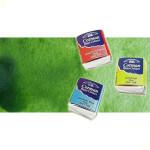 Acuarela Cotman Winsor & Newton 1/2 godet color verde vejiga