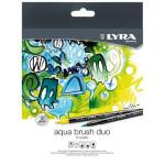 Estuche 12 rotuladores doble punta pincel. Aqua Brush Duo, Lyra