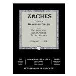 Dibujo Arches 180 gr, 23x31 cm, Extra Blanco, block 16 h.