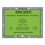 Acuarela Arches 185 gr, 18x26 cm, G. Fino, block 20 h.