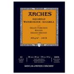 Acuarela Arches 300 gr, 21x29,7 cm, G. Grueso, block 12 h.