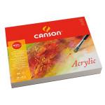Bloc de 50 hojas de papel para acrílico Canson de grano fino de 400 gr (32x41 cm)