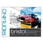Bloc de ilustración y diseño Bristol Fabriano, 20 hojas, 250gr, 21x29.7cm