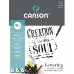 Bloc Lettering Canson, 24x32 cm, 180 gr, 20 h.