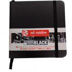 Bloc ArtCreation hojas negras, 12x12, banda elastica, 80 h, 140 gr.