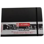 Bloc ArtCreation hojas negras, 21x14,8, banda elastica, 80 h, 140 gr.