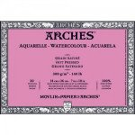 Acuarela Arches 300 gr, 10x25 cm, G. Satinado, block 20 h.