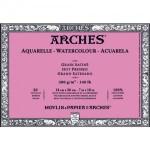 Acuarela Arches 300 gr, 26x36 cm, G. Satinado, block 20 h.