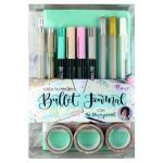 Set crea tu diario Turquesa Pastel, Bullet Journal