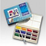 Caja acuarelas Winsor and Newton Cotman, 12 godets enteros y pincel