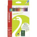 STABILO GreenColors Caja cartón 18 lápices colores surtidos