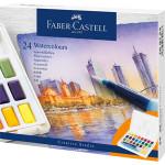 Estuche acuarelas Faber-Castell, 24 pastillas y pincel rellenable