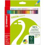 STABILO GreenColors Caja cartón 24 lápices colores surtidos