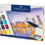 Estuche acuarelas Faber-Castell, 36 pastillas y pincel rellenable