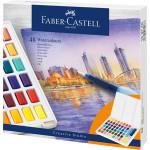 Estuche acuarelas Faber-Castell, 48 pastillas y pincel rellenable
