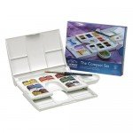 Caja con 14 acuarelas Cotman COMPACT 1/2 godet y pincel Winsor & Newton