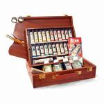 Caja de madera con 24 colores óleo Titan extra fino