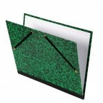 Carpeta dibujo 37x52 cm., Verde con gomas