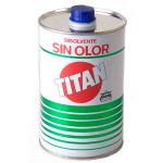 Disolvente sin olor Titan, 500 ml.