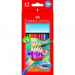 Estuche cartón 12 lapices acuarelables Faber Castell
