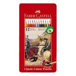 Caja metal lapices color Faber-Castell 12 uds.