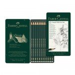 Estuche metálico de 12 lápices de grafito Faber Castell 9000 Art Set