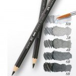 Lapiz Grafito Acuarelable HB, Faber-Castell