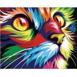 "Pintar por números kit cuadro ""Felino Pop Art"", 40x50cm, Figured'Art"