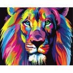 "Pintar por números kit cuadro ""León Pop Art"", 40x50cm, Figured'Art"