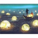 "Pintar por números kit cuadro ""Luces en el lago"", 40x50cm, Figured'Art"