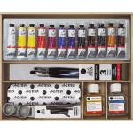 Caja de madera con 12 colores óleo Titan Goya (20 ml)