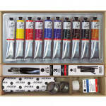 Caja de madera con 10 colores óleo Titan Goya (60 ml)