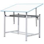 Mesa de dibujo profesional regulable con manivela y bandeja, 80x120 cm.