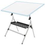 Mesa de dibujo semi-profesional regulable con muelles y bandeja, 65x90 cm.