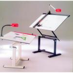 Mesa de dibujo profesional con armazón, 130x90 cm.