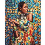 "Pintar por números kit cuadro ""Mujer en ropa tradicional"", 40x50cm, Figured'Art"