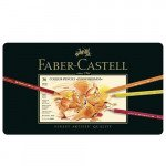 Estuche de Lápices color POLYCHROMO, Faber Castell (36 colores)