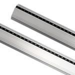 Regla aluminio antideslizante 80 cm.