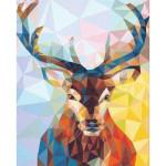 "Pintar por números kit cuadro ""Reno Moderno"", 40x50cm, Figured'Art"
