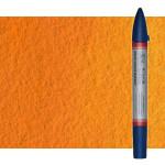 Rotulador de acuarela naranja de cadmio tono Winsor & Newton doble punta pincel