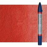 Rotulador de acuarela rojo de cadmio oscuro tono Winsor & Newton doble punta pincel
