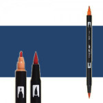 Rotulador Tombow 569 Jet Blue doble punta pincel